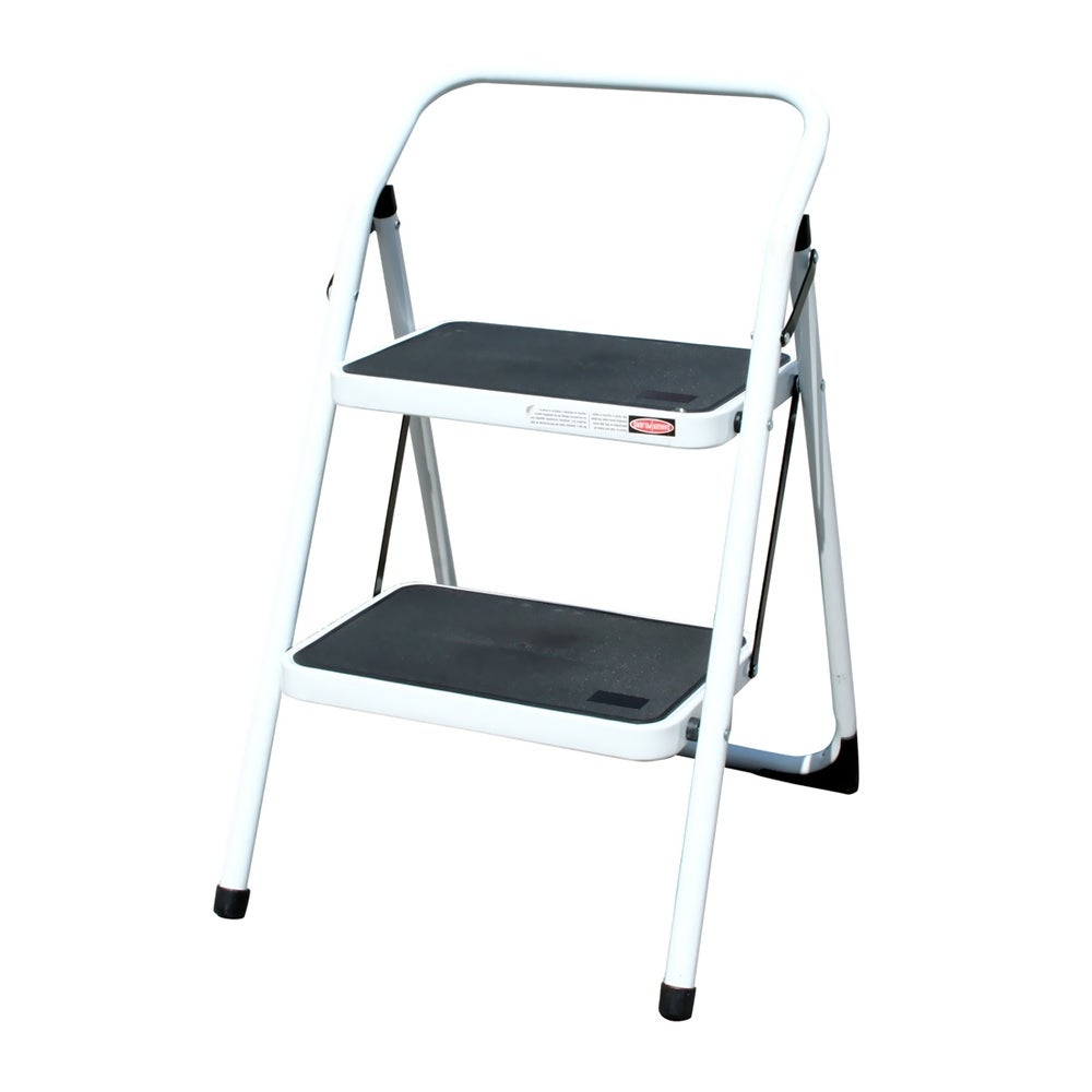 Offex Two Step Utility Stool White Free Shipping Today 20873046