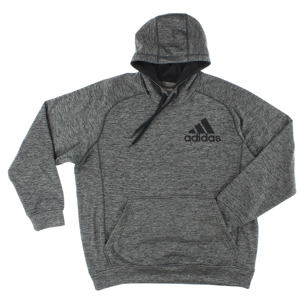 cb07b25b Shop Adidas Mens Team Issue Pullover Hoodie Dark Grey - Dark Grey/Black -  Free Shipping Today - Overstock - 22544958