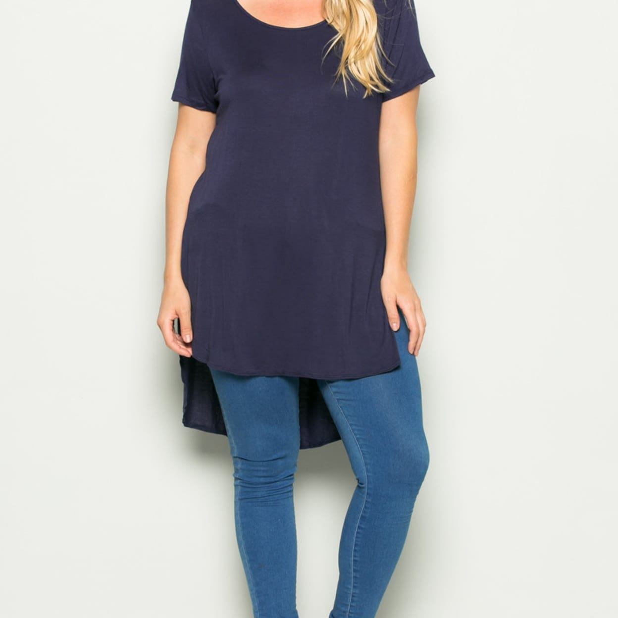 fed5f4e7e1c422 Shop Navy Plus Size High-low Scoop Neck Shirt - Free Shipping On Orders  Over $45 - Overstock - 23024071