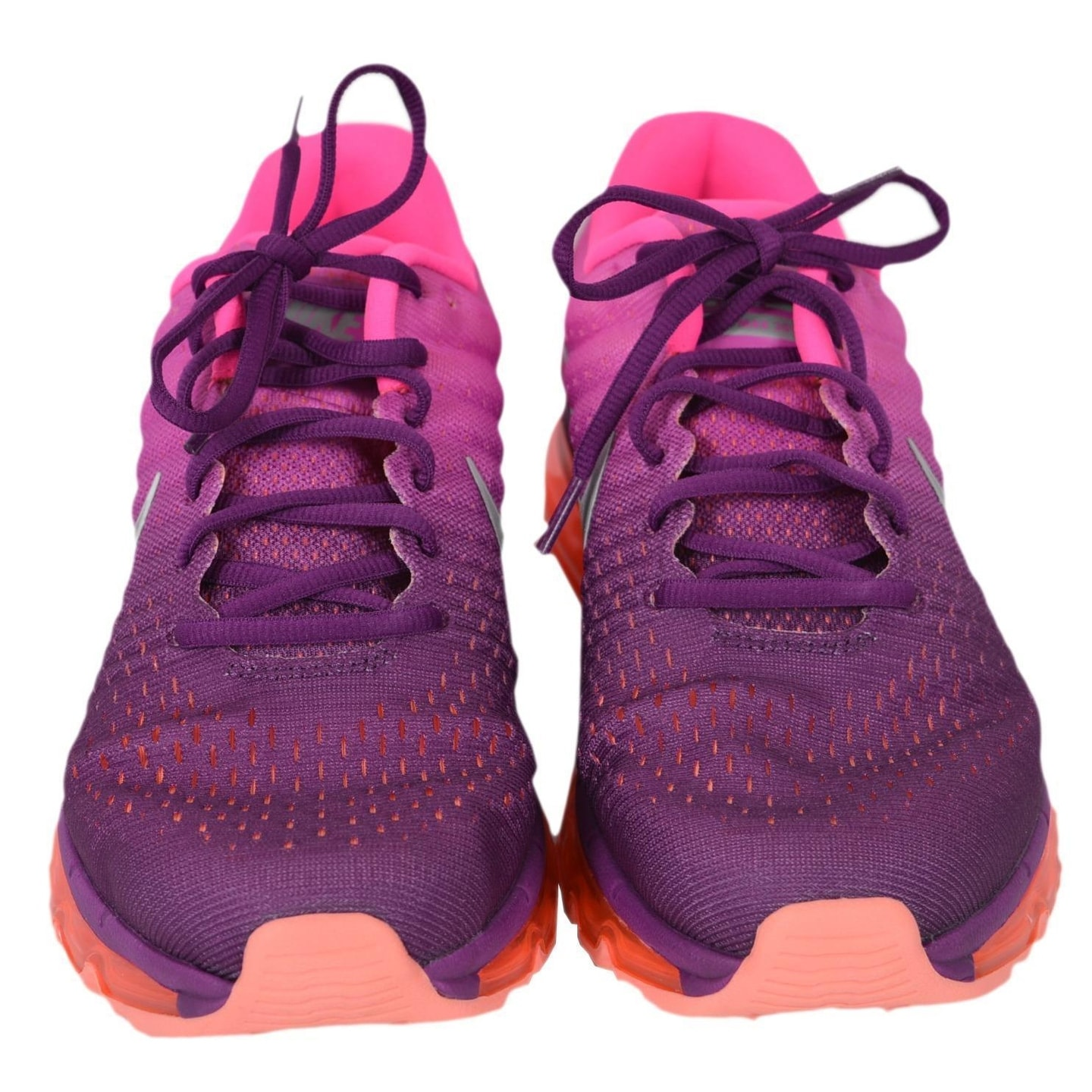 3886bf71aa9c8 Shop NIKE AIR MAX 2017 Ombre Pink Women s Running Tennis Shoes - Free  Shipping Today - Overstock - 22404406