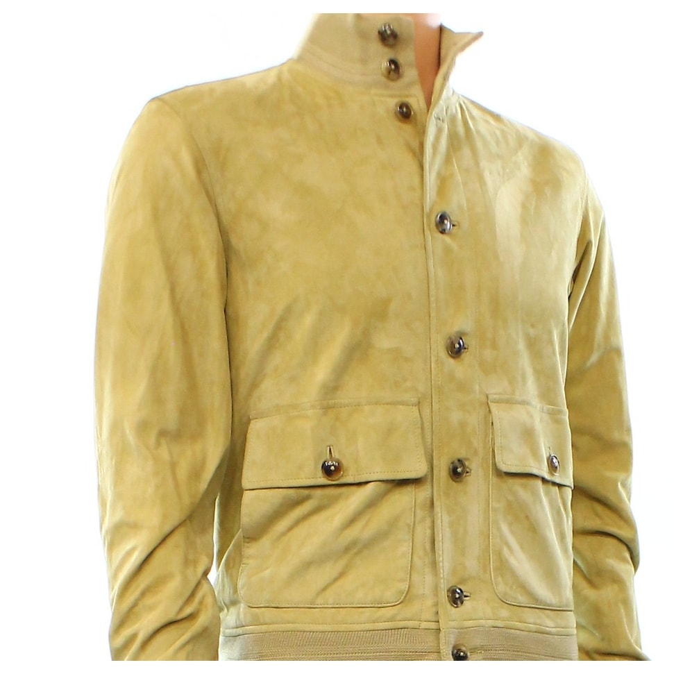 Shop Polo Ralph Lauren NEW Beige Mens XS Goat Suede Button Front Jacket -  Free Shipping Today - Overstock.com - 17085344