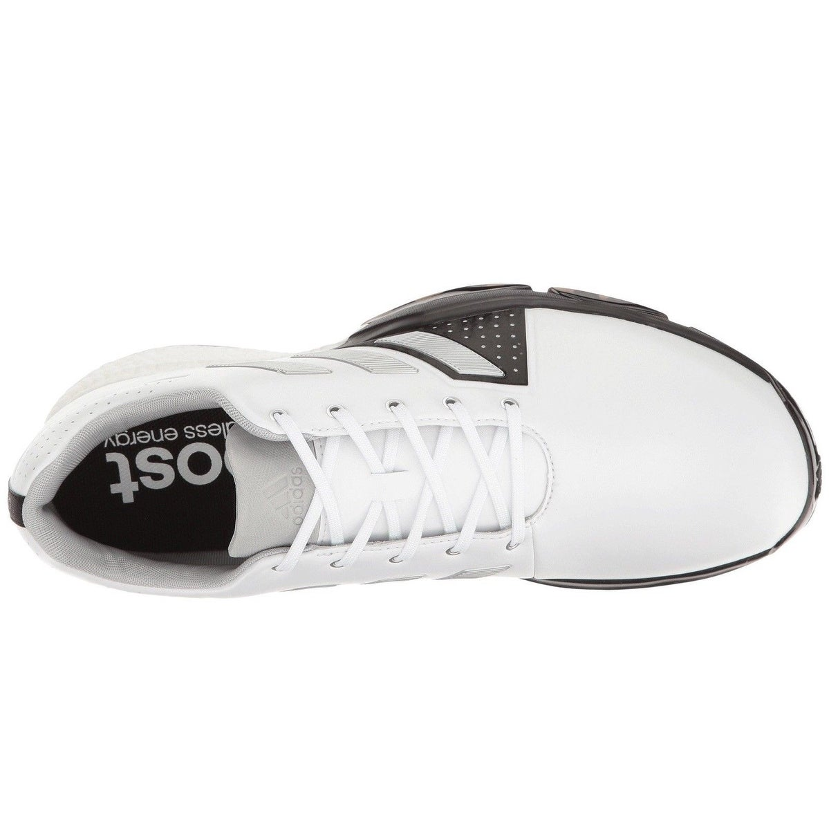 purchase cheap 78504 072a9 Shop Adidas Men s Adipower Boost 3 White Silver Metallic Black Golf Shoes  Q44756 Q44762 - Free Shipping Today - Overstock - 18847908