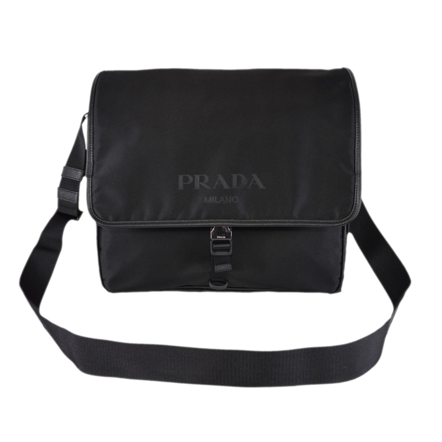 a9dd354b1f12 Shop Prada Men s Black Nylon Leather Tracolla 2VD166 Messenger Crossbody Bag  - On Sale - Free Shipping Today - Overstock - 27148262