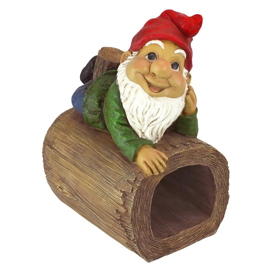 Stormy The Gnome Gutter Guardian Downspout Statue Design Toscano ...