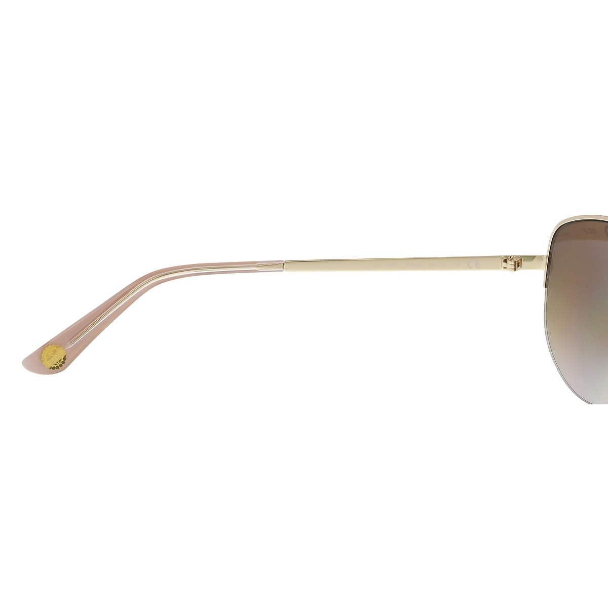 a41e16c0d0 Shop Juicy Couture JU 594 S 03YG NQ Light Gold Aviator Sunglasses -  60-15-135 - Free Shipping Today - Overstock - 21158063
