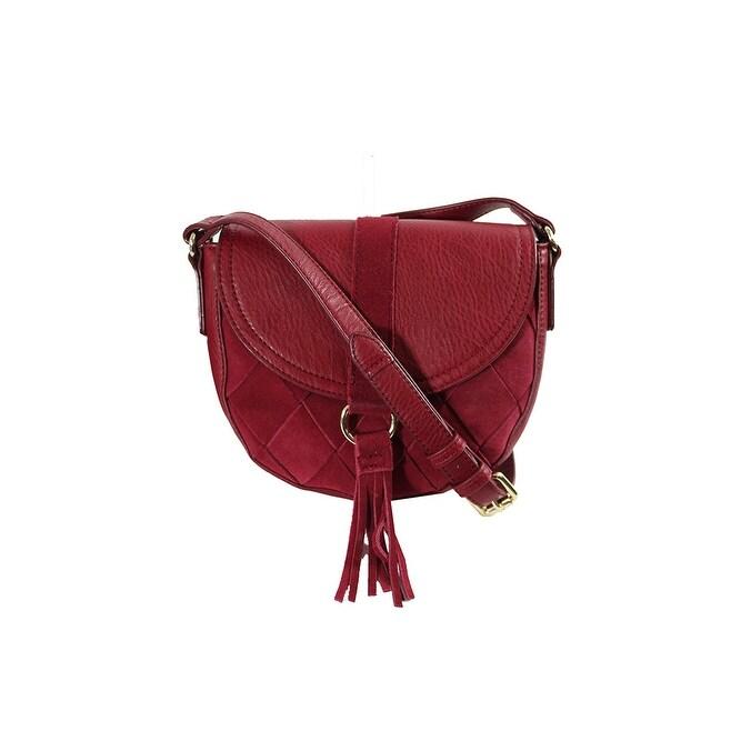 b32d562209b5 Shop Inc International Concepts Wine Ella Saddle Bag OS - Free ...
