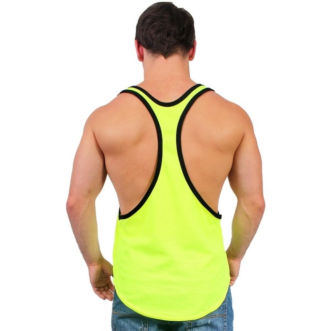 1aa8500e7b18c Shop Men s Dri Fit Tank Top Open Side Racer Back Gym Workout Rib Ringer Muscle  Shirt - Free Shipping On Orders Over  45 - Overstock - 12147398