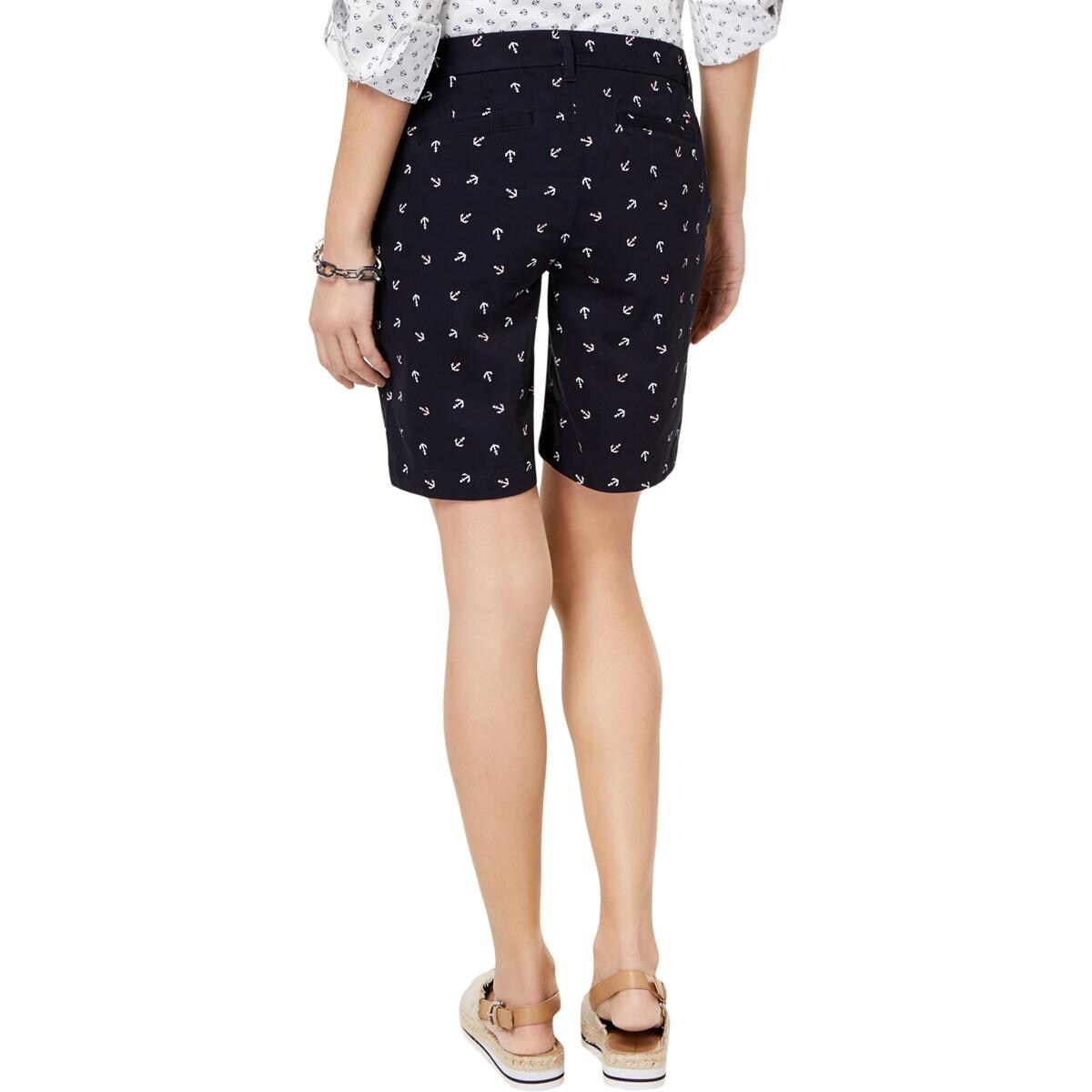 2397d463728ab Tommy Hilfiger Womens Bermuda Shorts Nautical Anchor Print