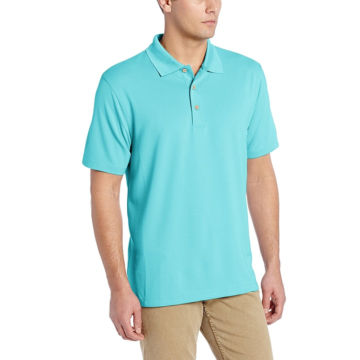 eaa644879 Shop Cubavera Men's Essential Textured Performance Polo Shirt - Free ...