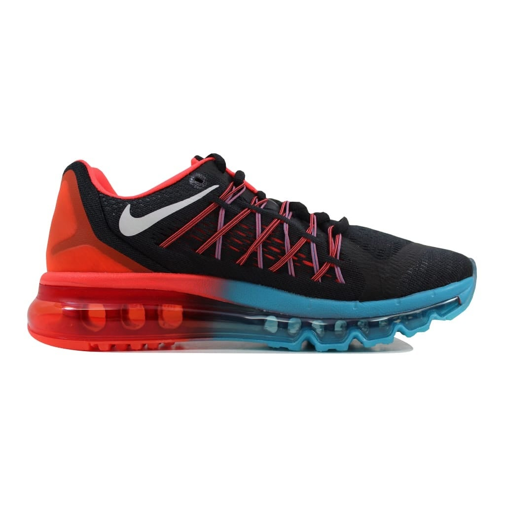 Shop Nike Men s Air Max 2015 Black White-Bright Crimson-Blue Lagoon 698902-006  - Free Shipping Today - Overstock - 22340346 83a94c04ec40