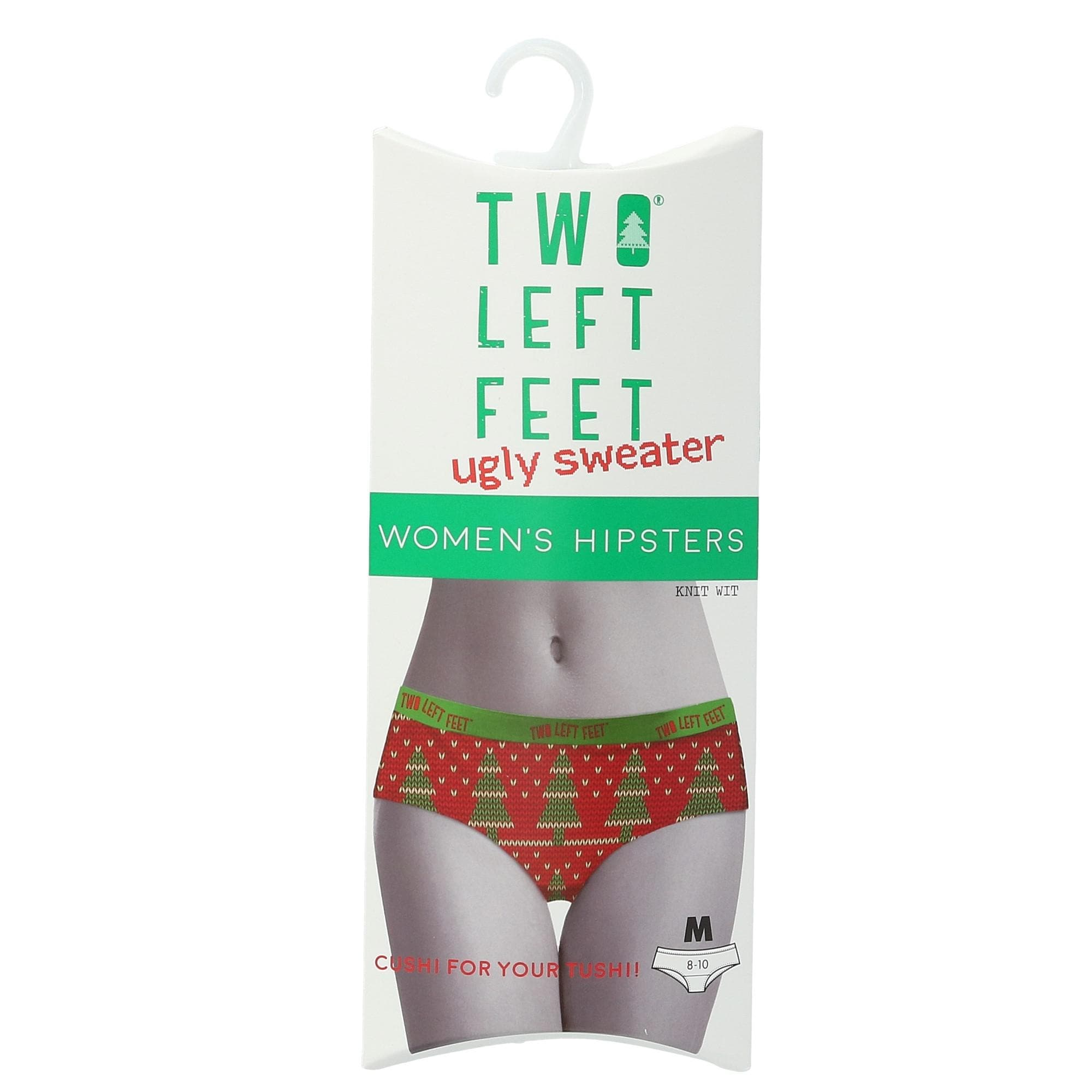 acd5edcb57de Shop Two Left Feet Women's Ugly Christmas Holiday Underwear - Free Shipping  On Orders Over $45 - Overstock - 24242567