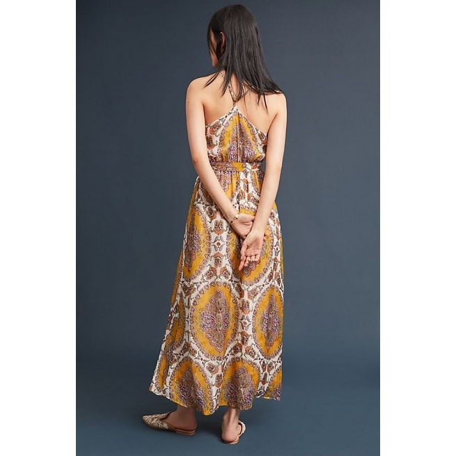 75d46681bbf Shop Anthropologie Medallion Maxi Dress - Free Shipping Today - Overstock -  25856539