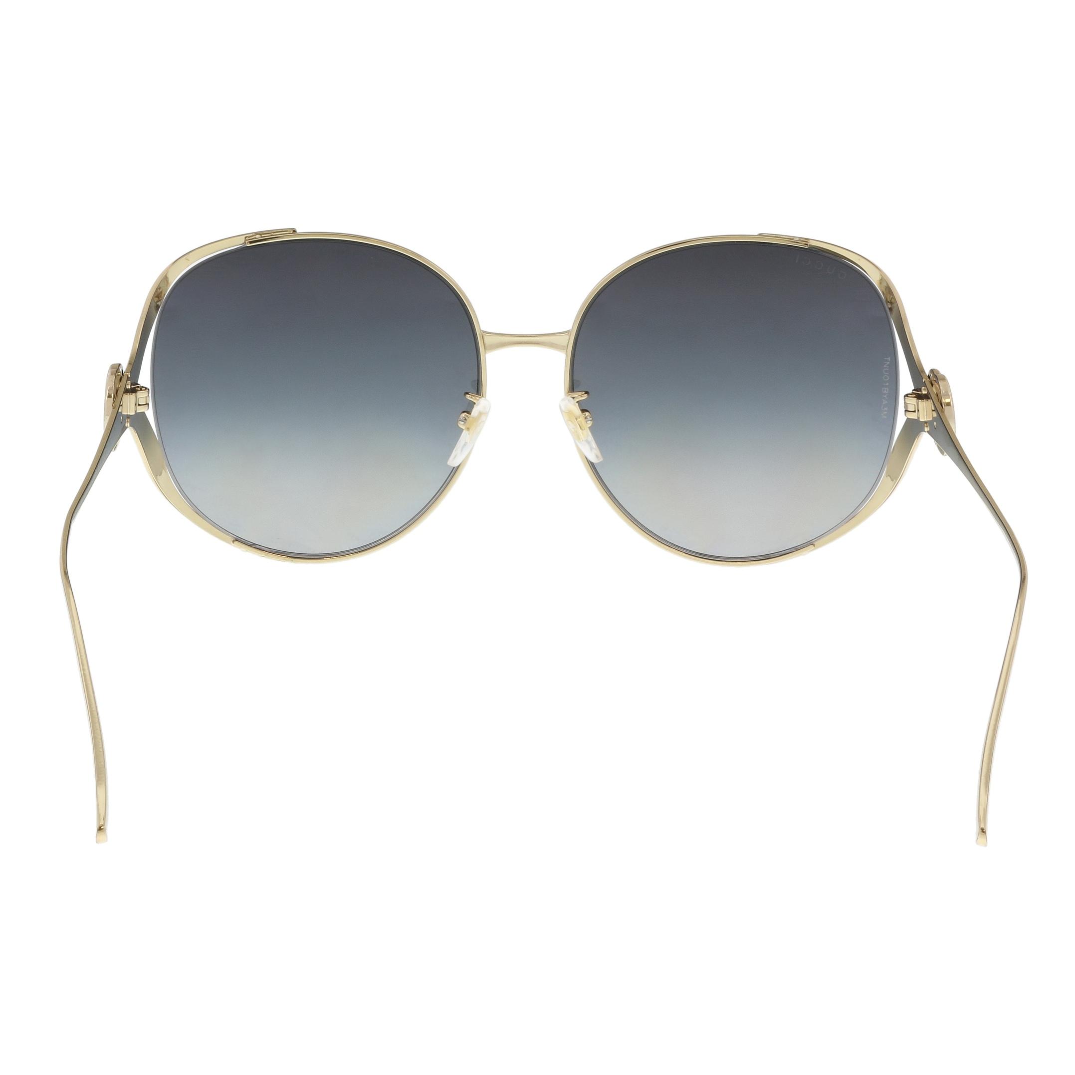 f91ad01e642 Shop Gucci GG0225S-001 Gold Square Sunglasses - 63-17-130 - Free Shipping  Today - Overstock - 21157987