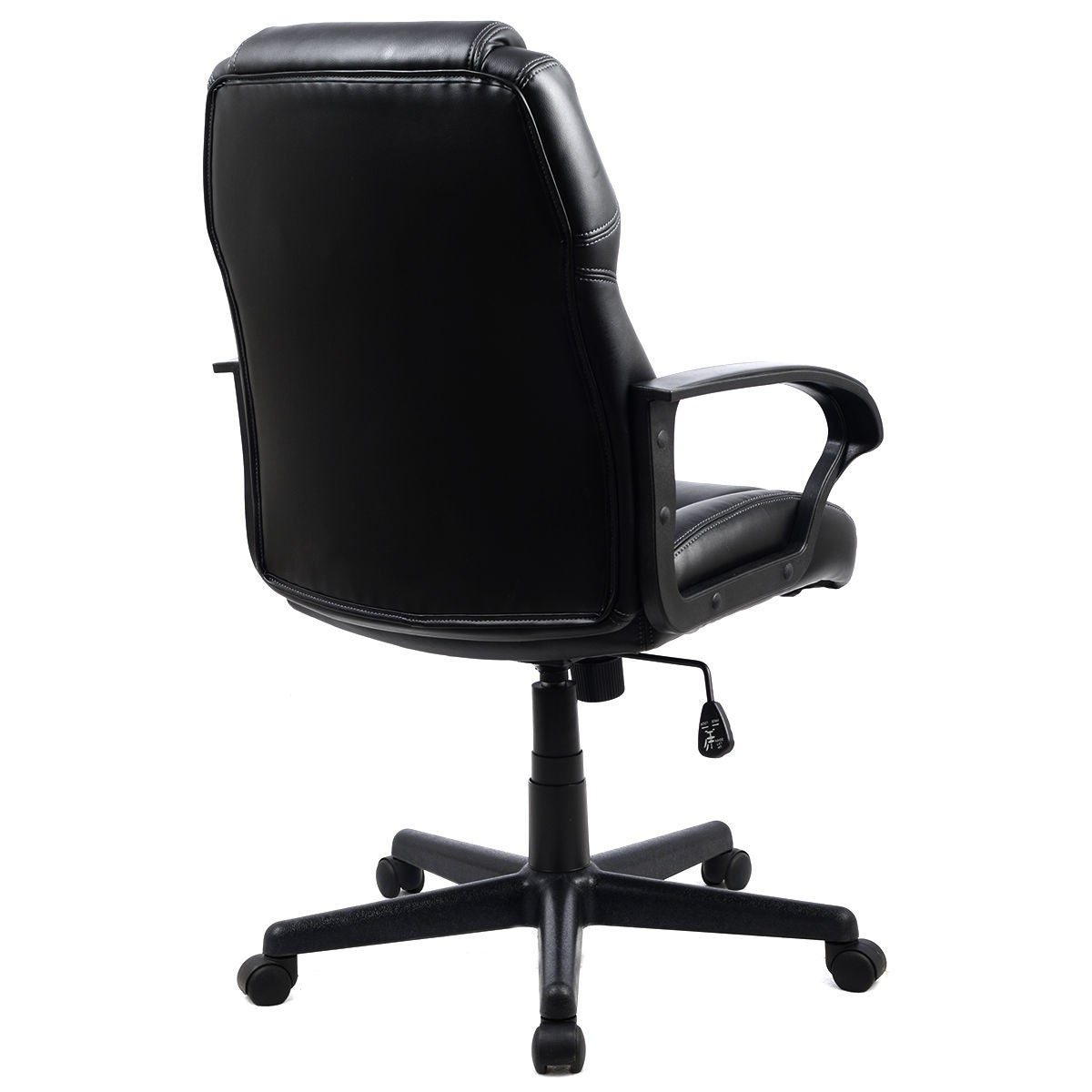 shop costway pu leather ergonomic high back executive computer desk