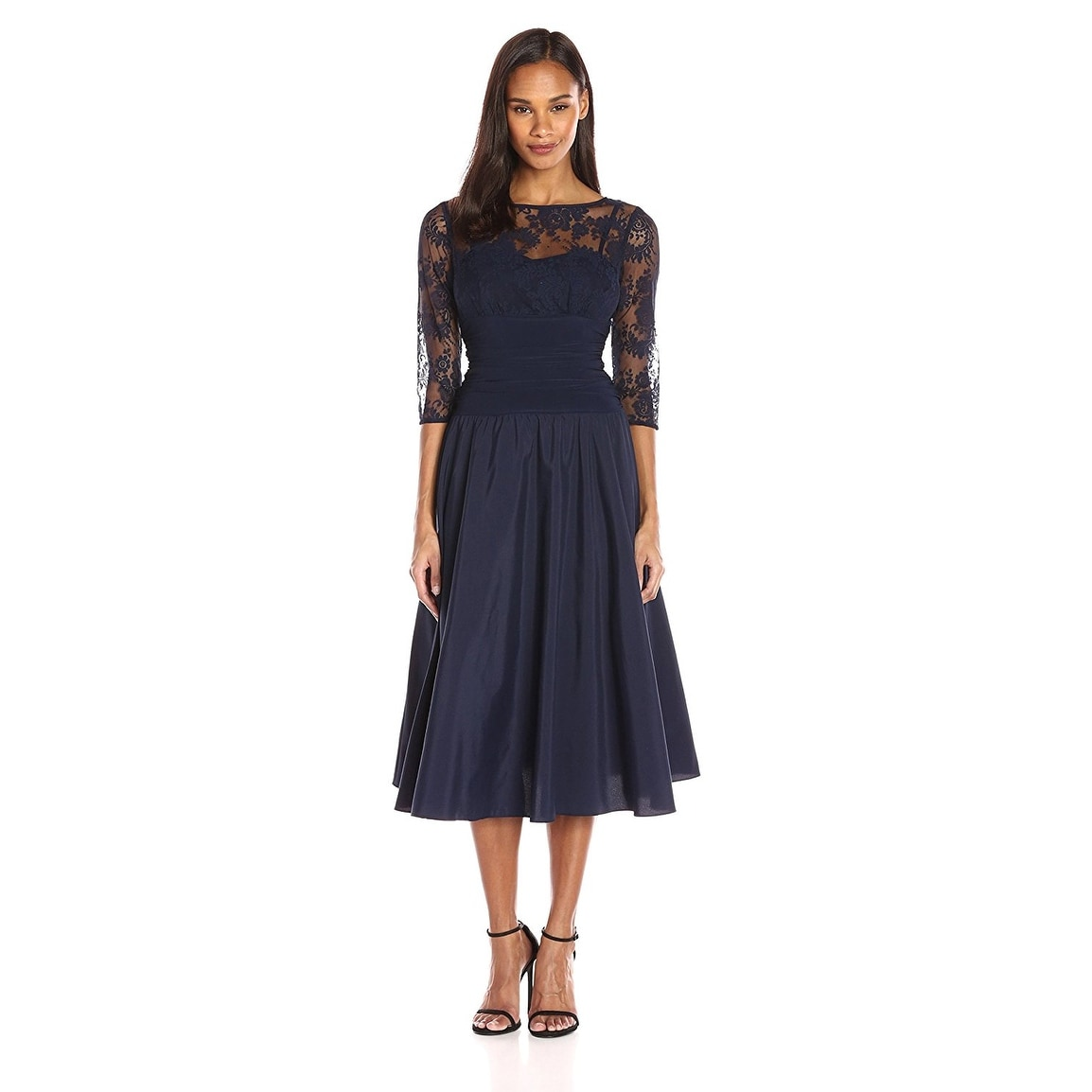 Jessica Howard Three Quarter Sleeve A-Line Cocktail Evening Dress ...