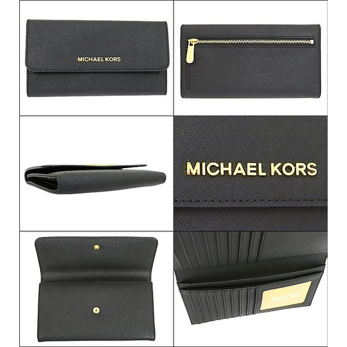 e8e62bc97b5a Shop Michael Kors Jet Set Travel Large Trifold Leather Wallet 35S8GTVF7L - Free  Shipping Today - Overstock - 23446690
