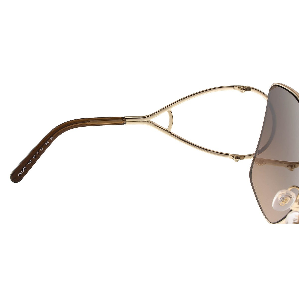 98f8435ecb Shop Chloe CE135 S 743 Gold Brown Square Sunglasses - 63-15-135 - Free  Shipping Today - Overstock - 26290683
