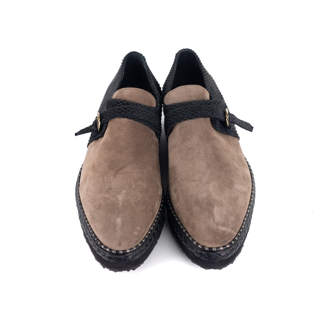 aa39bf530ea Shop Roberto Cavalli Mens Suede Pony Hair Black Brown Loafers - Free  Shipping Today - Overstock - 21957310
