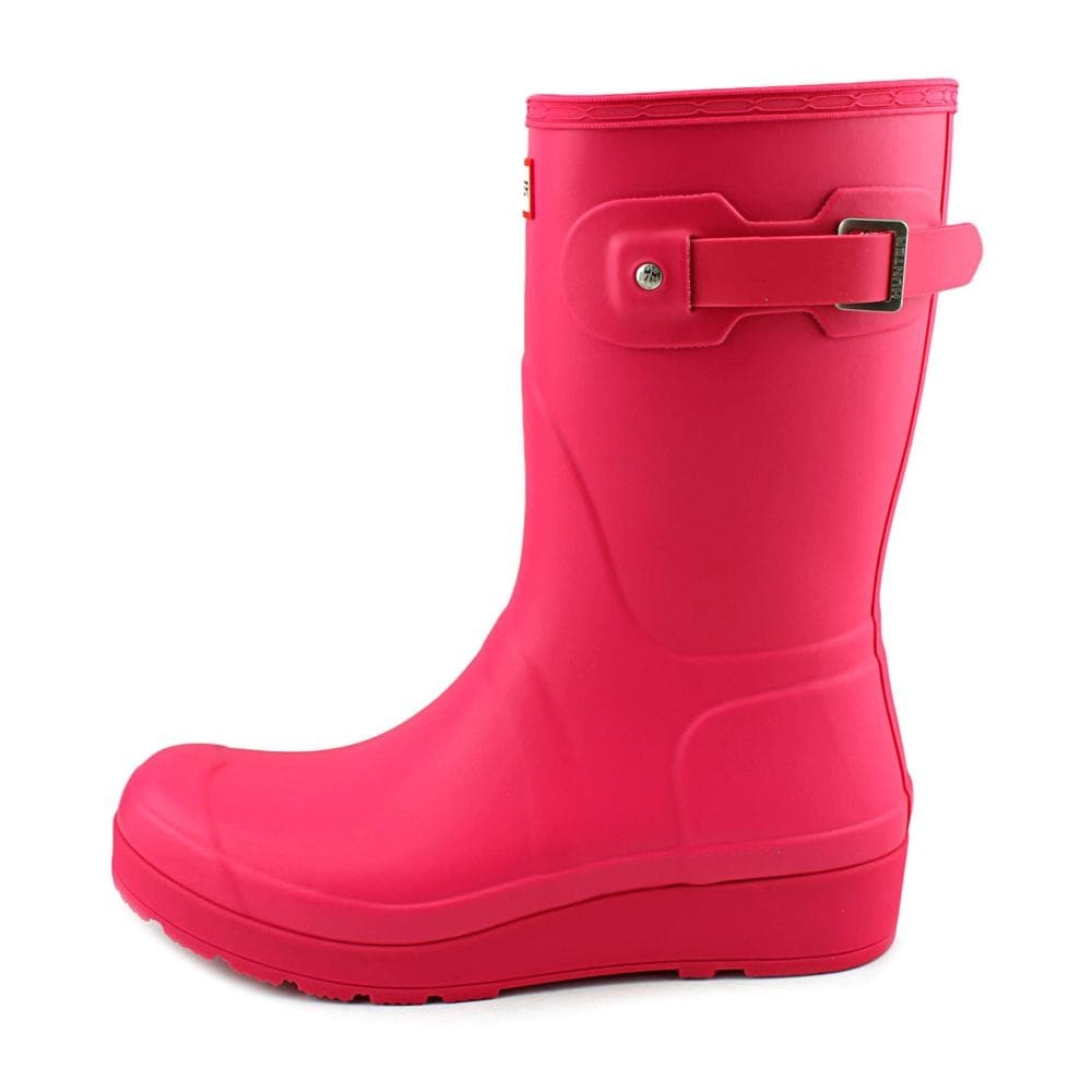 20ab2fa224e Shop Hunter Original Short Wedge Sole Women Round Toe Synthetic Rain Boot -  Free Shipping Today - Overstock - 16082026