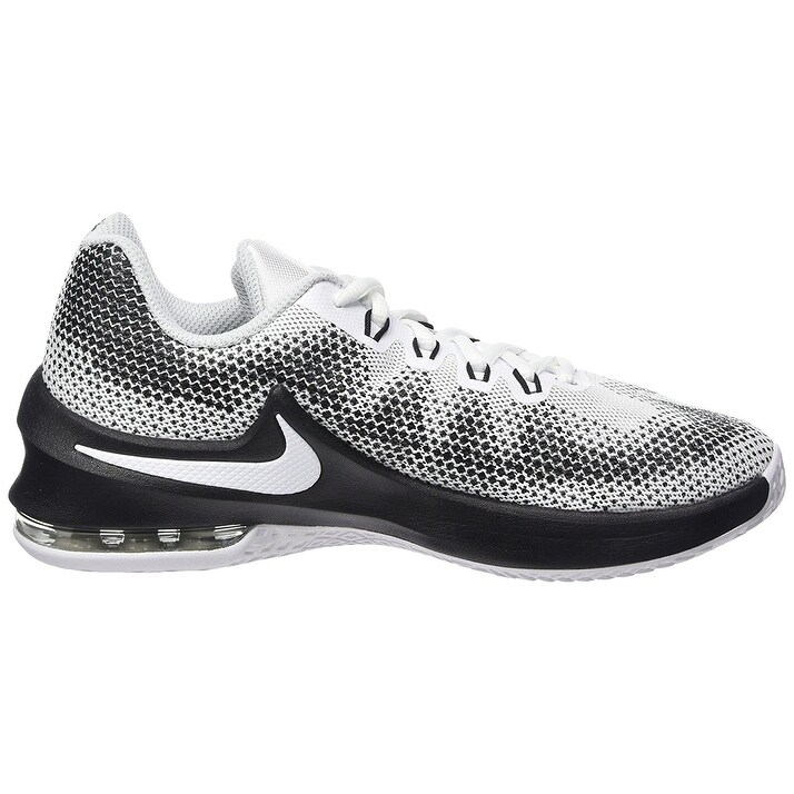 Shop Nike Boy s Air Max Infuriate (GS) Basketball Shoe White Black-Wolf Grey-Pure  Platinum - Free Shipping Today - Overstock - 17949965 72c556ef4d