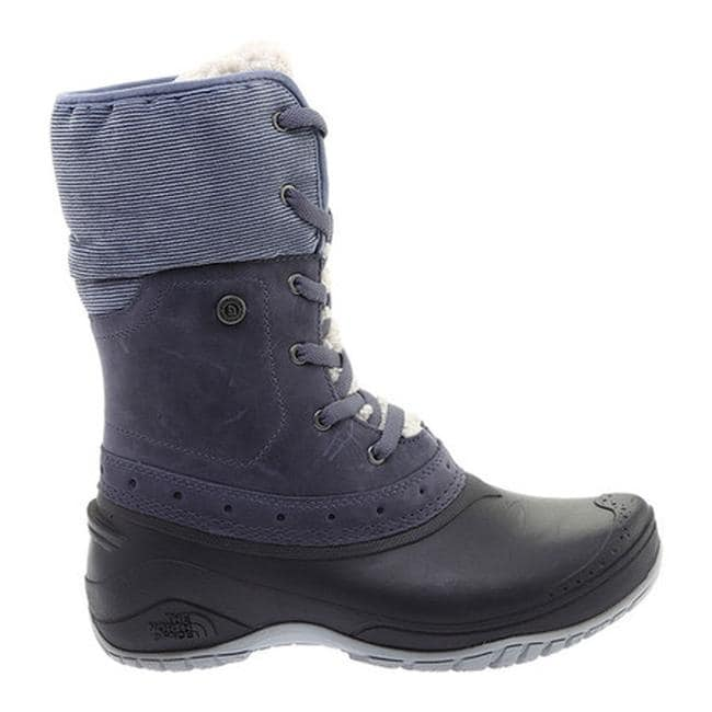 ab37e79358801 The North Face Women's Shellista Roll-Down Waterproof Boot Grisaille Grey/Weathered  Black
