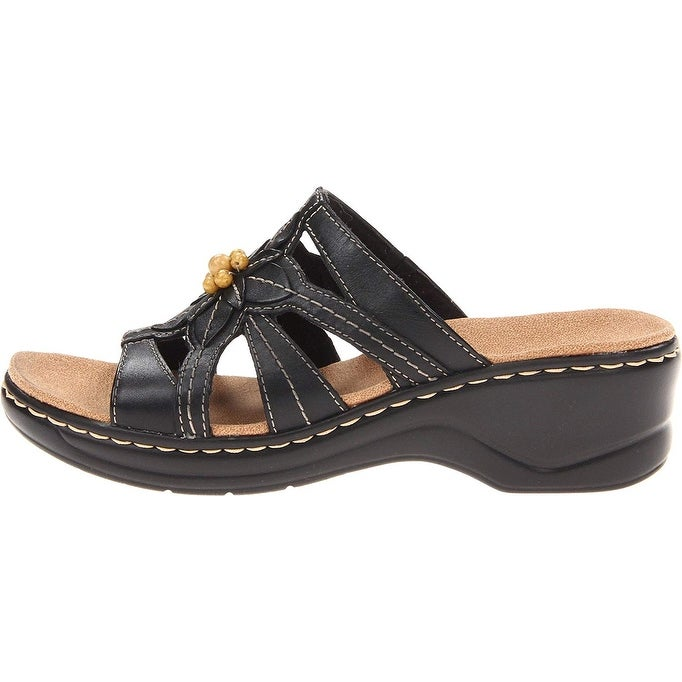 a2db57b0 CLARKS Womens LEXI MYRTLE Leather Open Toe Casual Slide Sandals