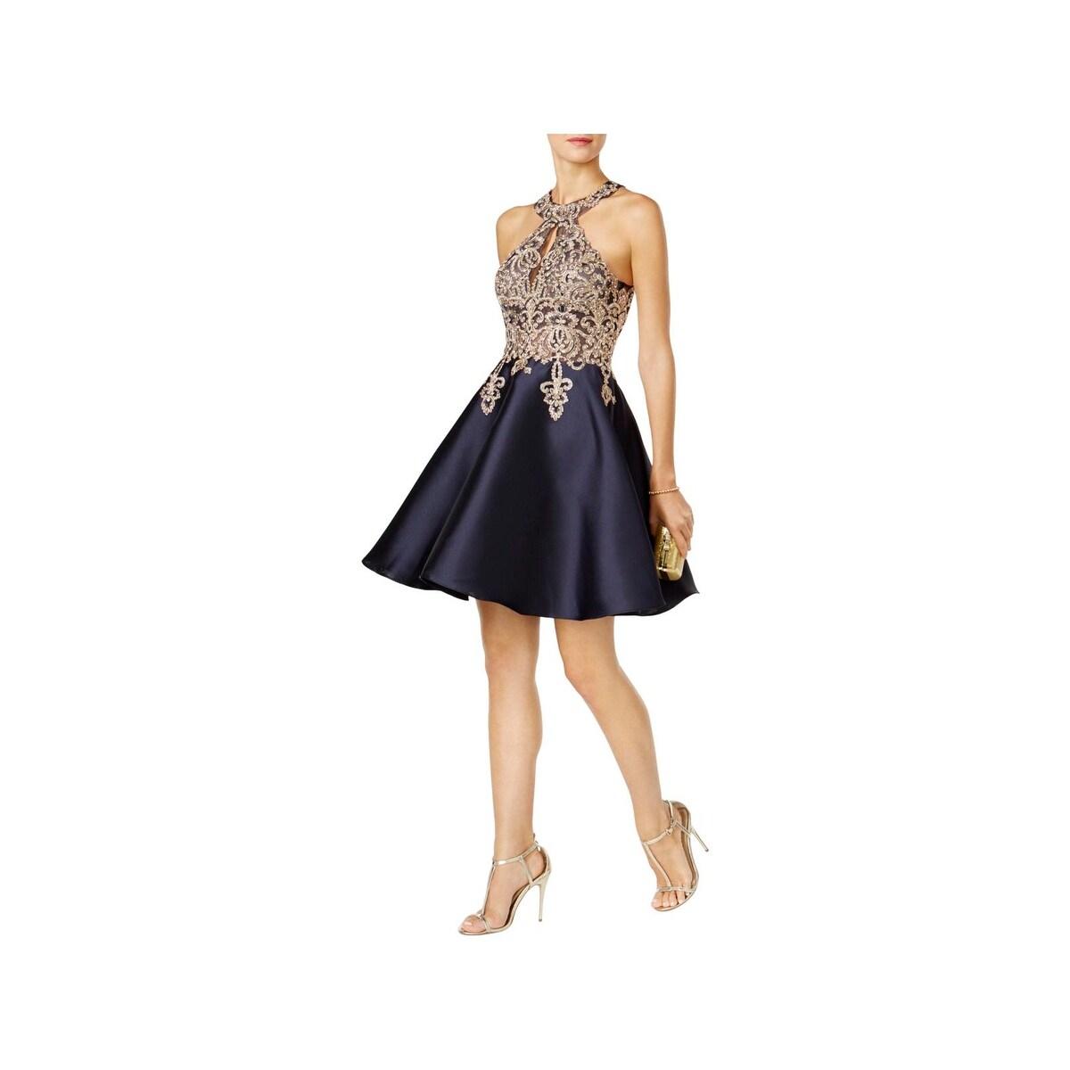 Shop Xscape Womens Semi-Formal Dress Metallic Evening - Free ...