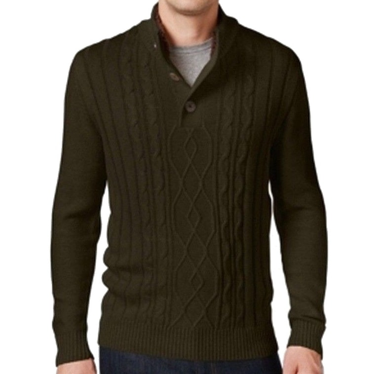 8b49b5879 Shop Tricots St. Raphael NEW Brown Mahogany Mens Large L Cable-Knit Sweater  - Free Shipping On Orders Over  45 - Overstock - 19960826