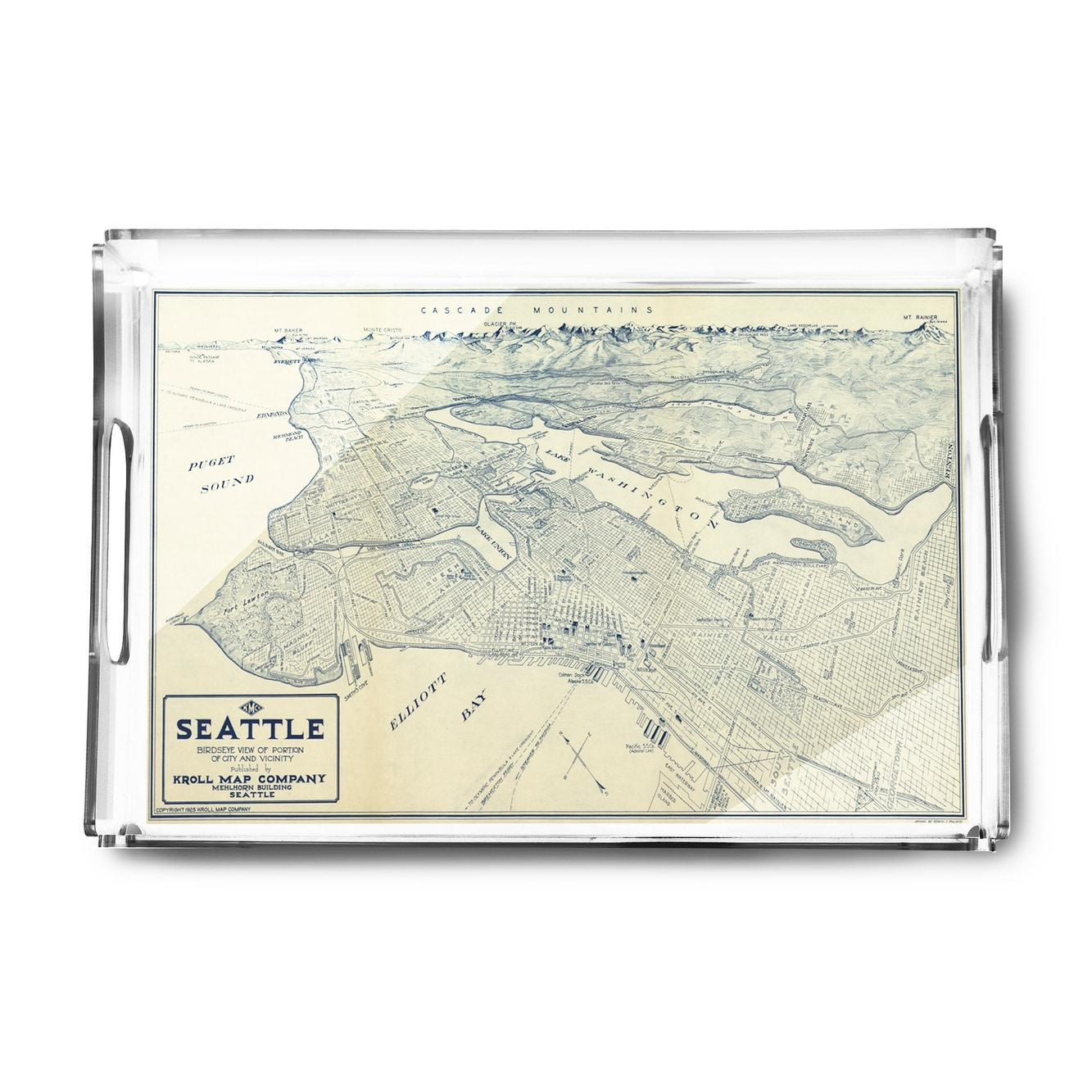 Shop Seattle Washington 1925 Panoramic Map Acrylic Serving