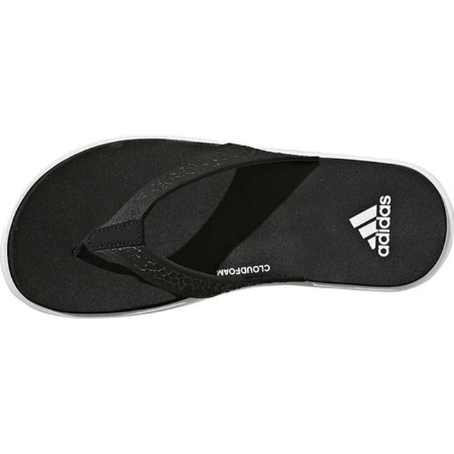 4badd4ca0d0827 Shop adidas Women s Beachcloud Cloudfoam Y Thong Sandal Black White Black - Free  Shipping On Orders Over  45 - Overstock - 19840535