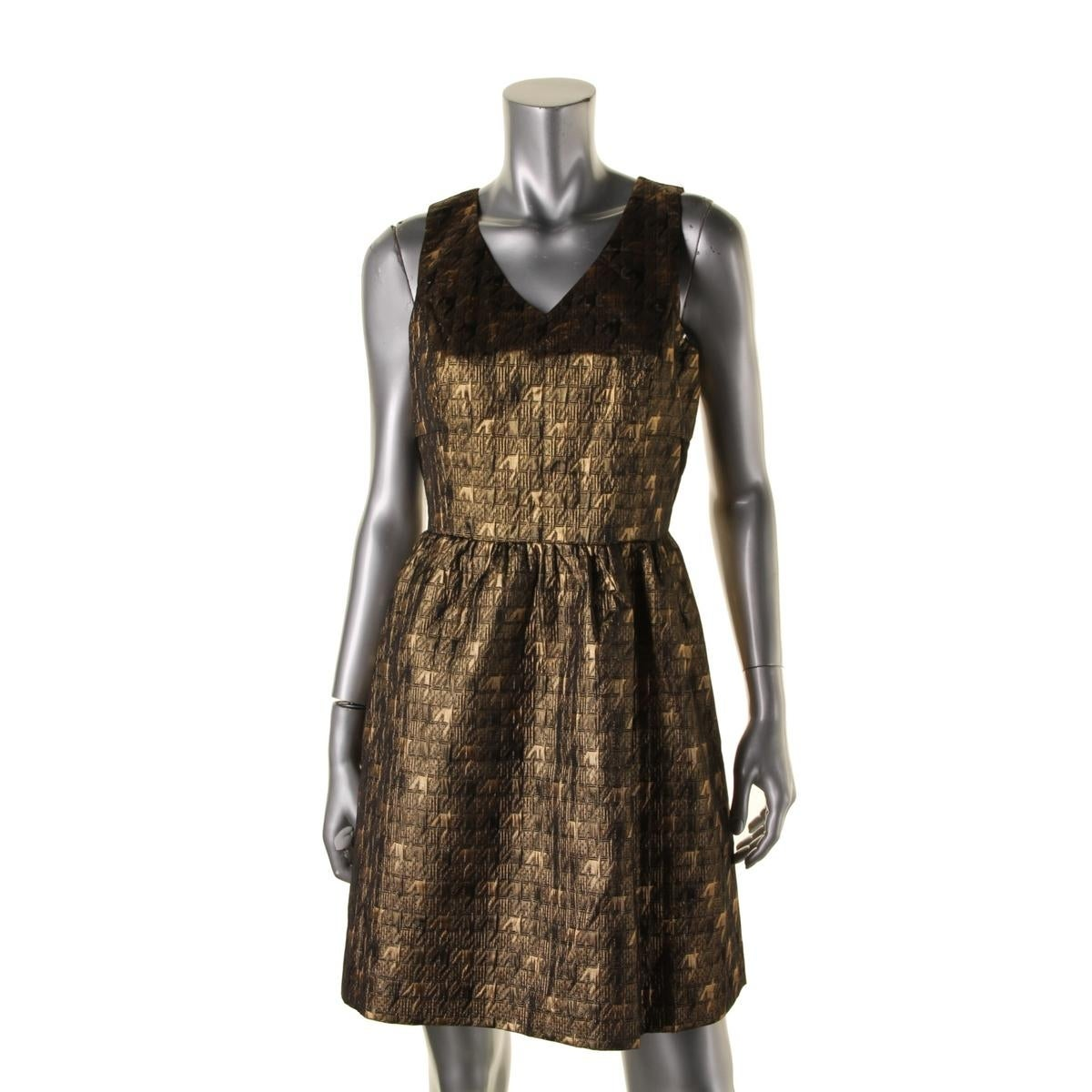 Kensie Womens Cocktail Dress Metallic Houndstooth - Free Shipping On ...