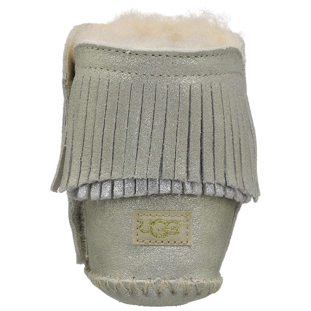 c0074467799 Kids Ugg Girls Branyon Fringe Ankle Slip On Snow Boots