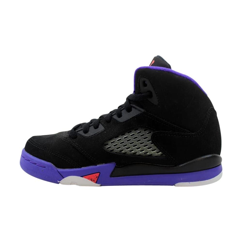8804e35d91d2e5 Shop Nike Air Jordan V 5 Retro GP Black Ember Glow-Fierce Purple-Ember Glow  440893-017 Pre-School - Free Shipping Today - Overstock - 27993604