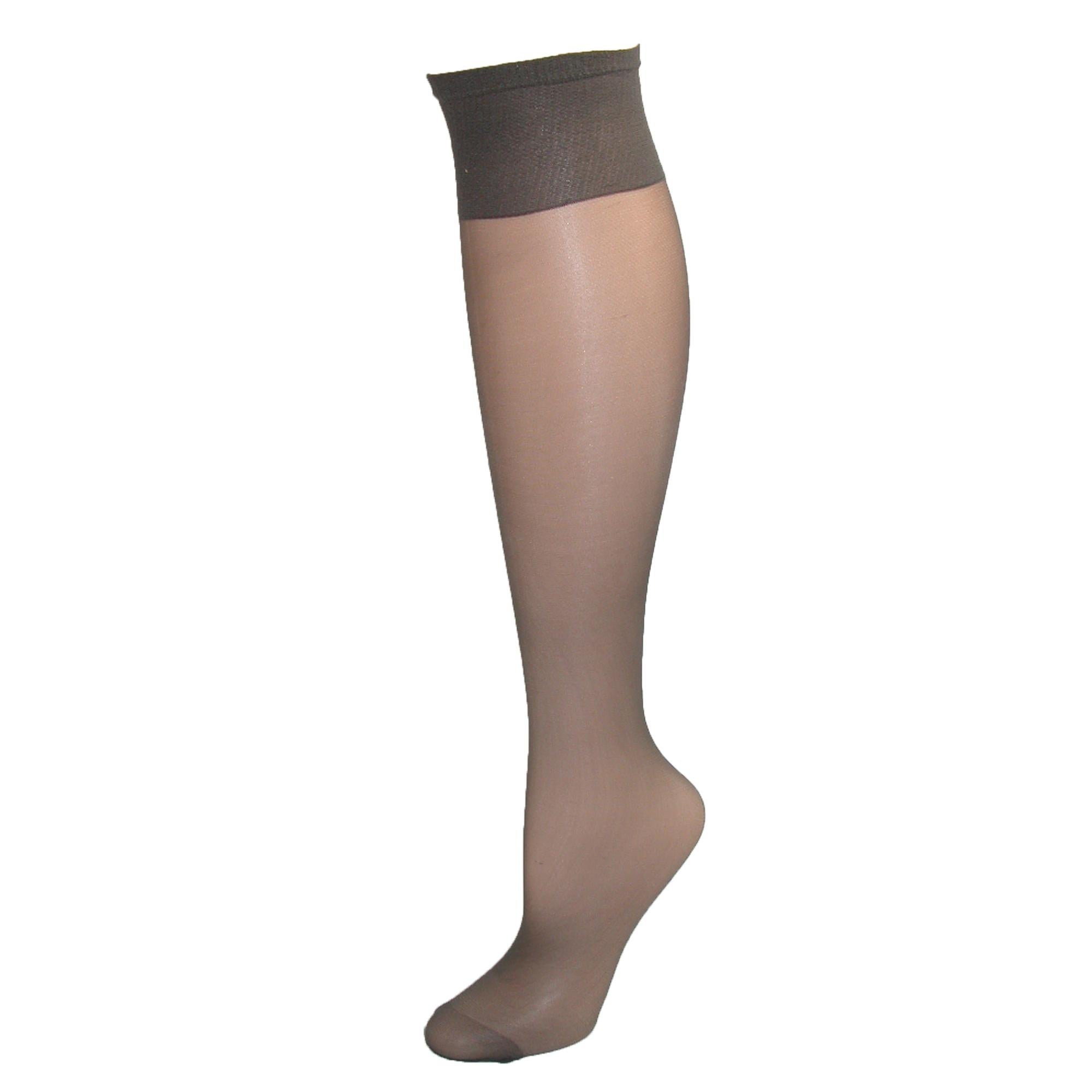 7407db309 Shop Hanes Women s Plus Size Nylon Sheer Knee High Socks (Pack of 2) - Free  Shipping On Orders Over  45 - Overstock - 14295547
