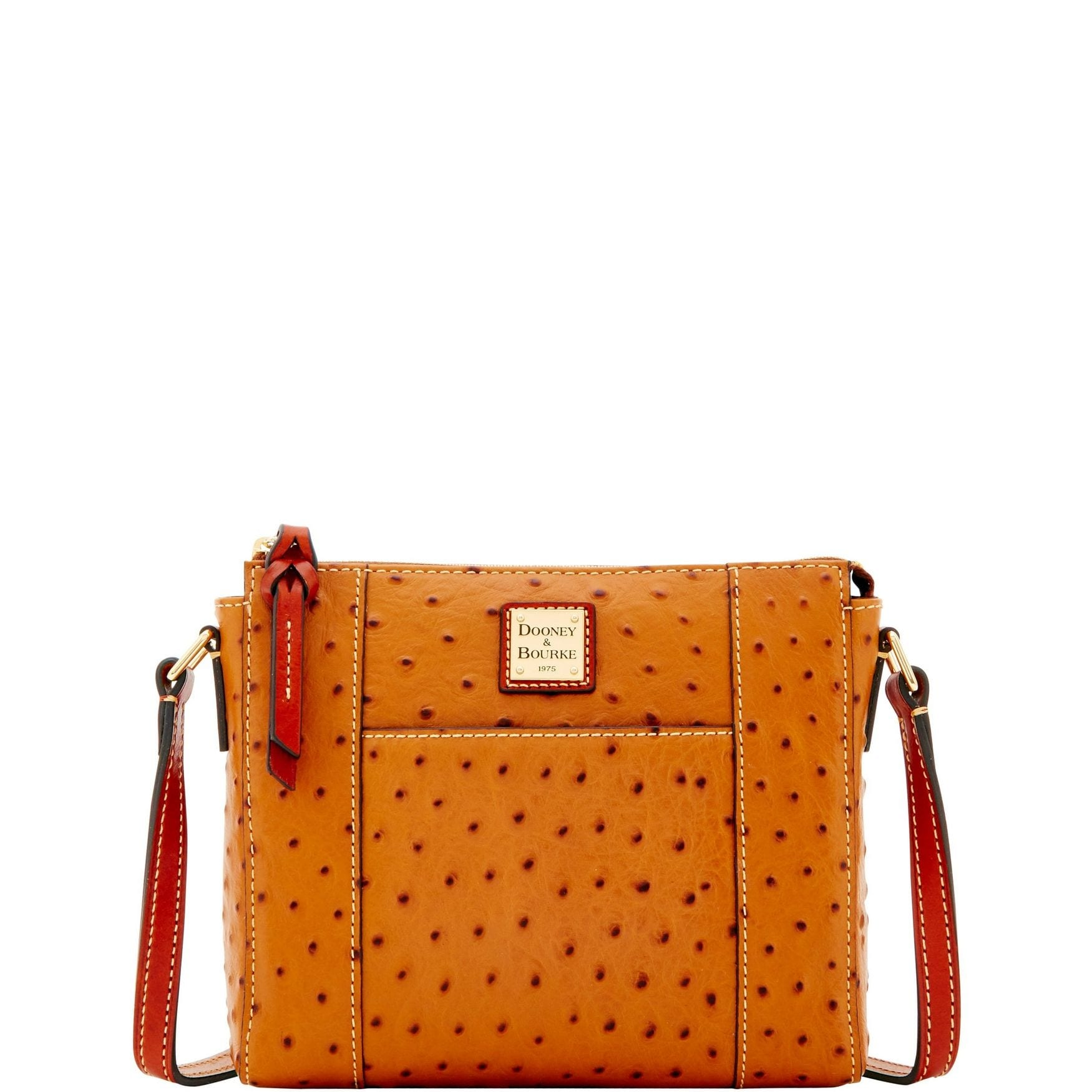 b5dff5ea91 Dooney & Bourke Ostrich Embossed Leather Lexington Crossbody Shoulder Bag  (Introduced by Dooney & Bourke in Jan 2018)