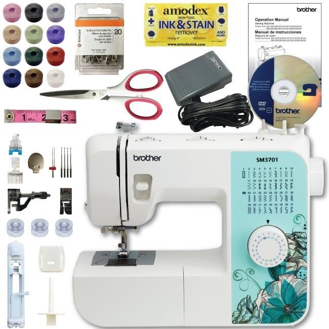 Shop Brother Sm40 40Stitch Sewing Machine Bundle Scissors Pins Amazing Brother Sewing Machine 6000i Manual