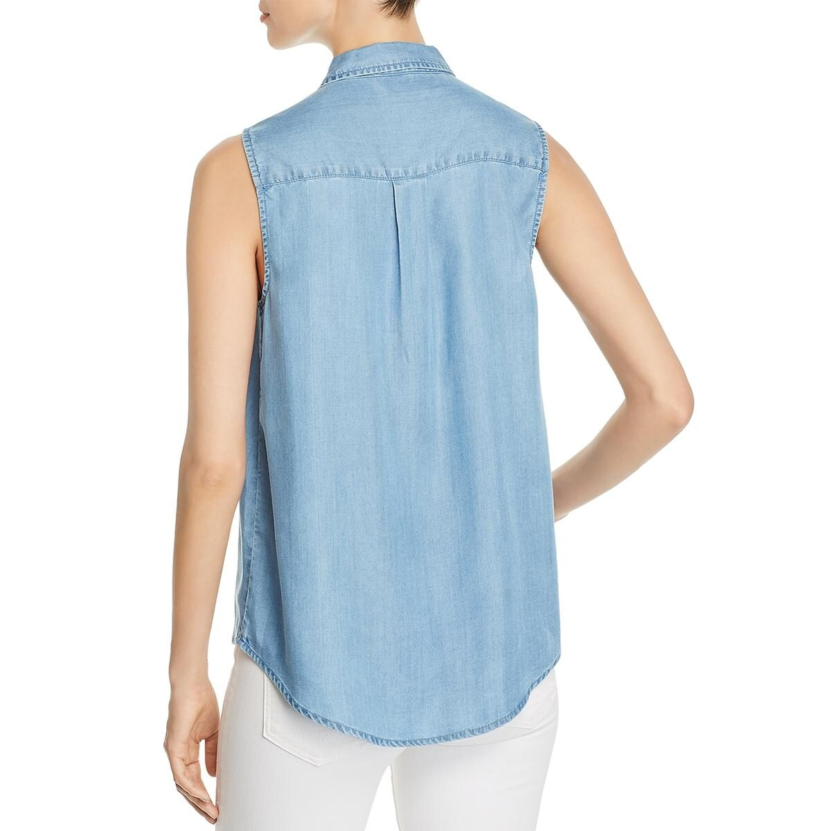 b319b37499 Shop Beach Lunch Lounge Womens Leilanah Button-Down Top Chambray Pineapple  Print - Free Shipping On Orders Over $45 - Overstock - 20895503