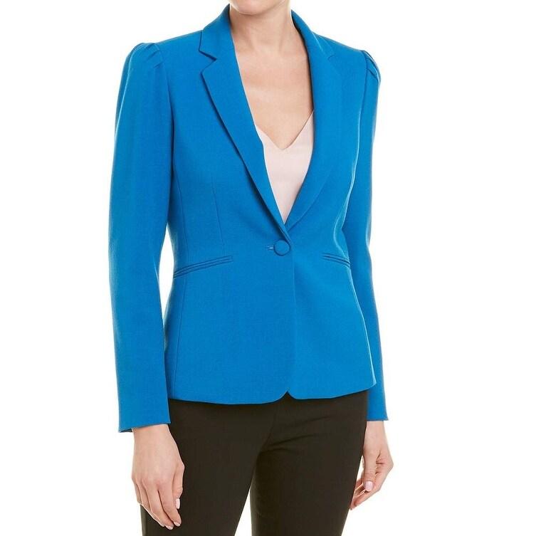 2c41f5c42e5 Shop Tahari by ASL Tahiti Blue Womens Size 2 One Button Pleated ...