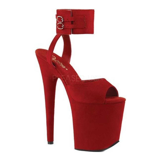 4ee33c4074 Shop Pleaser Women's Flamingo 891 Platform Sandal Red Faux Suede/Red Faux  Suede - Free Shipping Today - Overstock - 20341327