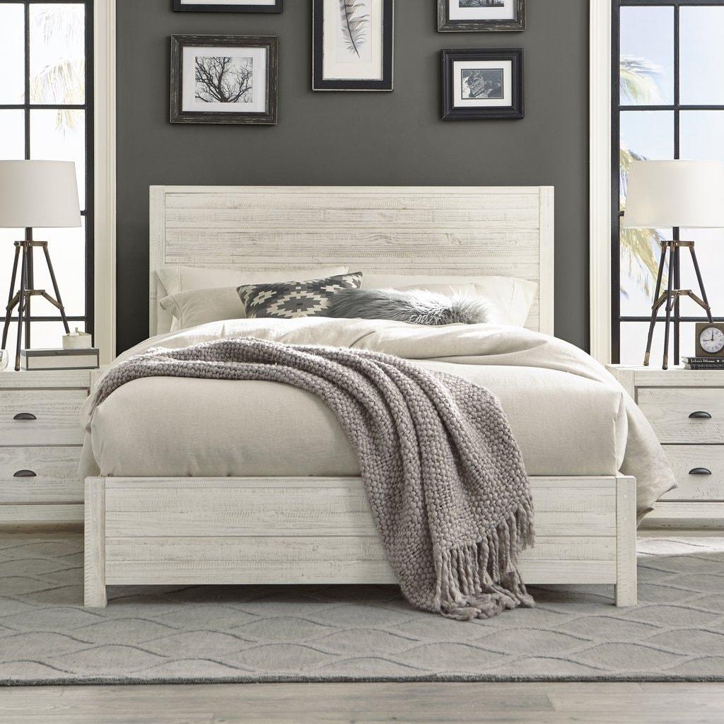 Picture of: Grain Wood Furniture Montauk Queen Solid Wood Panel Bed Overstock 20603174