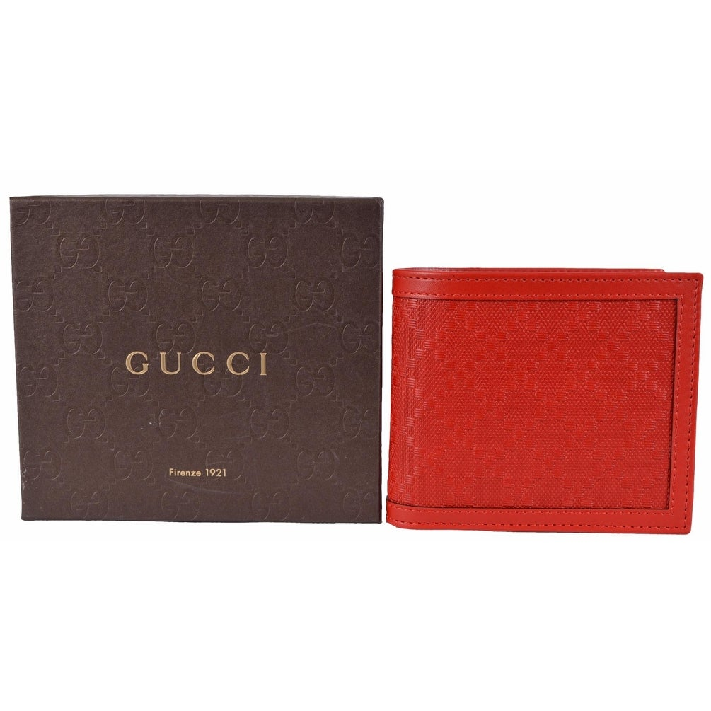 3b198daec26 Shop Gucci Men s 365471 Tabasco Red Leather Diamante Bifold Wallet - Free  Shipping Today - Overstock - 13042825