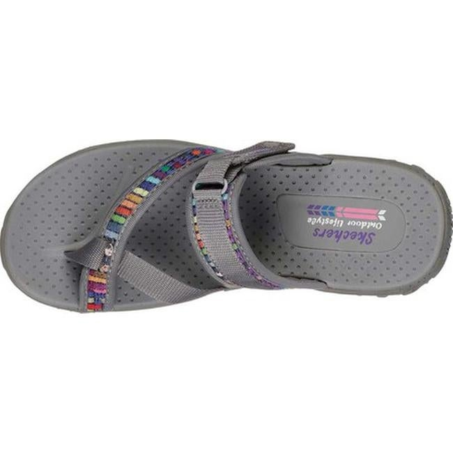 f042f2950c31 Shop Skechers Women s Reggae Mad Swag Toe Loop Sandal Gray - On Sale - Free  Shipping On Orders Over  45 - Overstock - 27348405