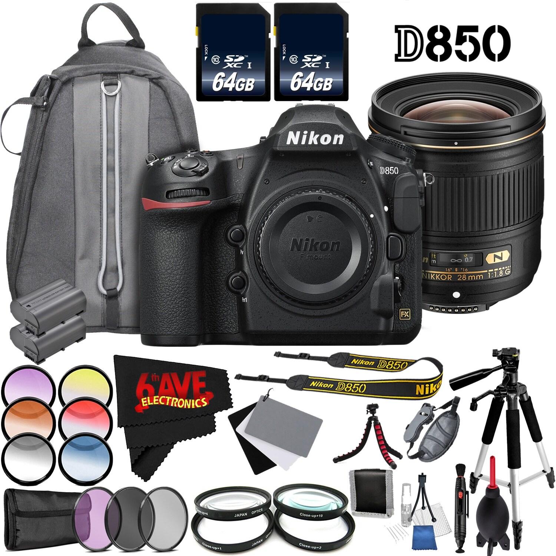 Nikon D850 Dslr Camera Body Only 1585 International Model Af S 28mm F18g Nikkor F 18g Lens Bundle Free Shipping Today Overstock 26554807