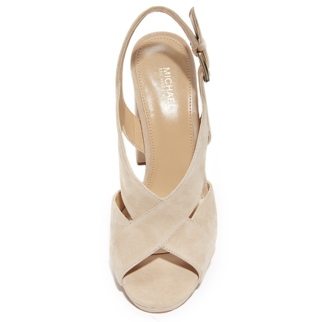 b357a59b14f Shop Michael Michael Kors Womens Becky Platform Leather Peep Toe Casual  Slingback ... - Free Shipping Today - Overstock - 24417599