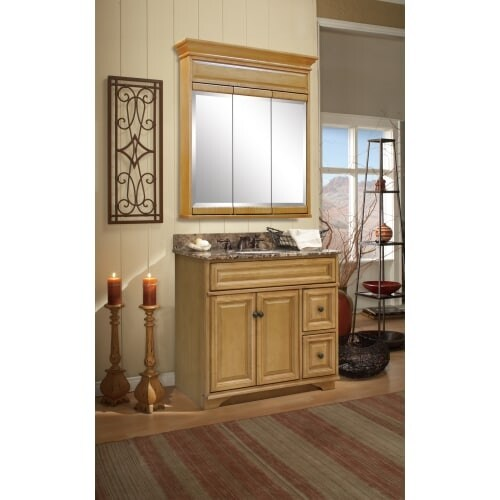 . Sunny Wood BW3021D Briarwood 30  Maple Wood Vanity Cabinet Only with 2  Drawers