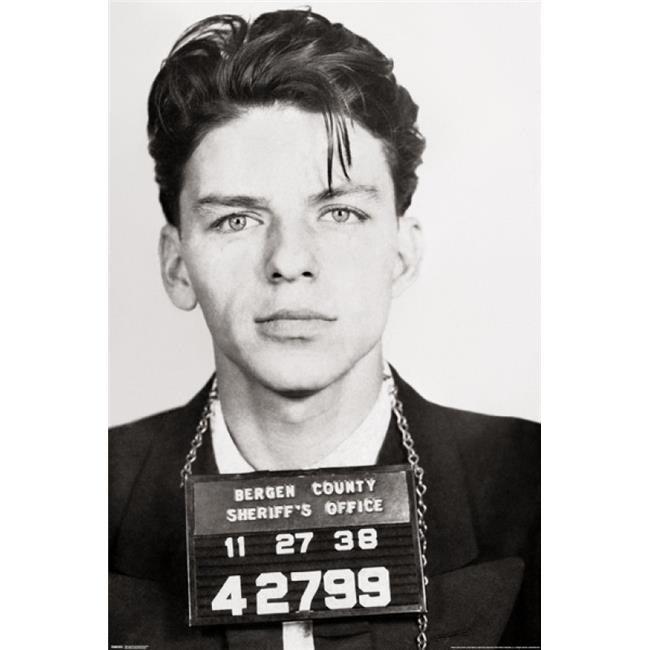 Shop Posterazzi Frank Sinatra Mugshot Poster Print 24 X 36 In