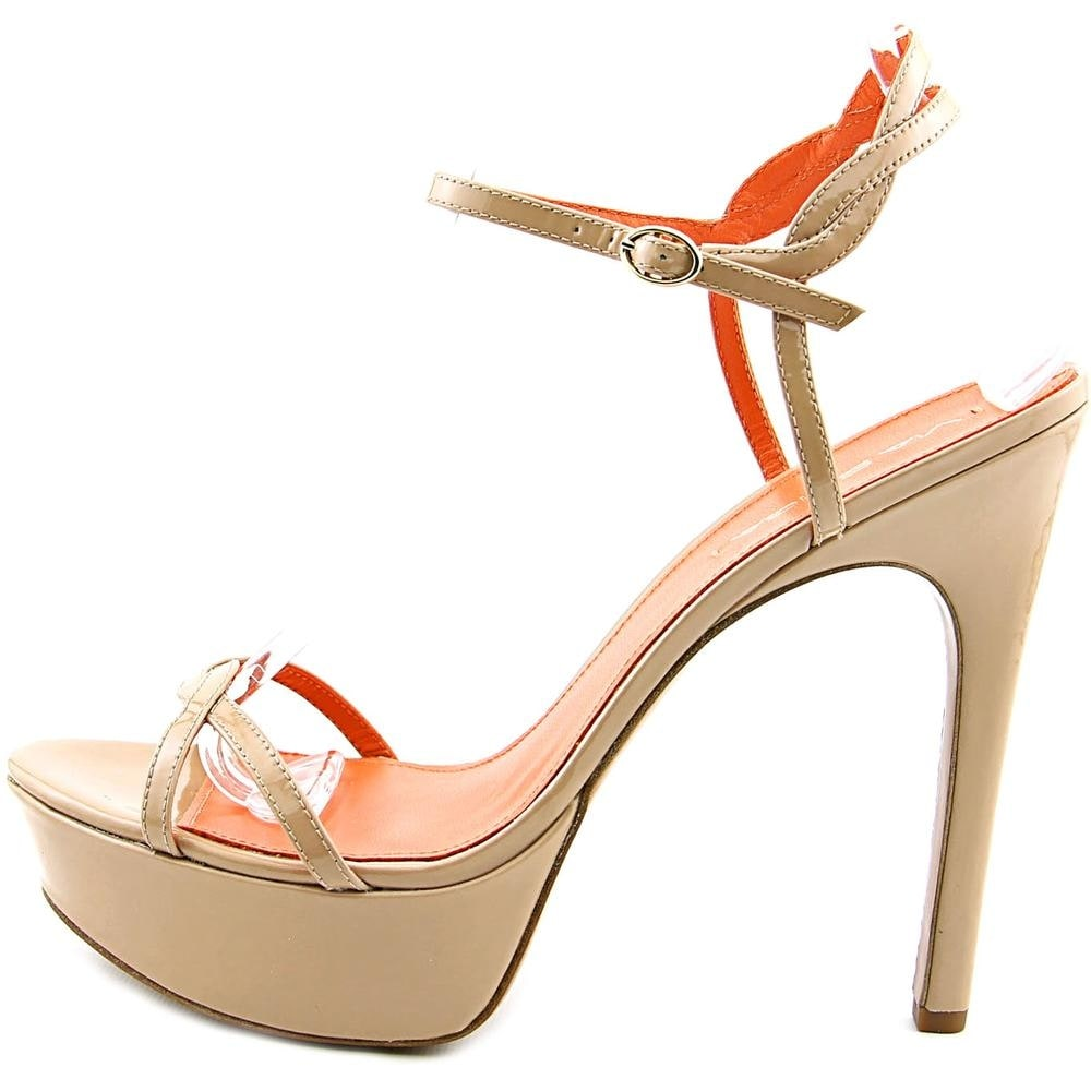 da9d87ae8ad6 Shop Via Spiga Heavenly Women Open Toe Patent Leather Nude Platform Sandal  - Free Shipping On Orders Over  45 - Overstock - 13571387