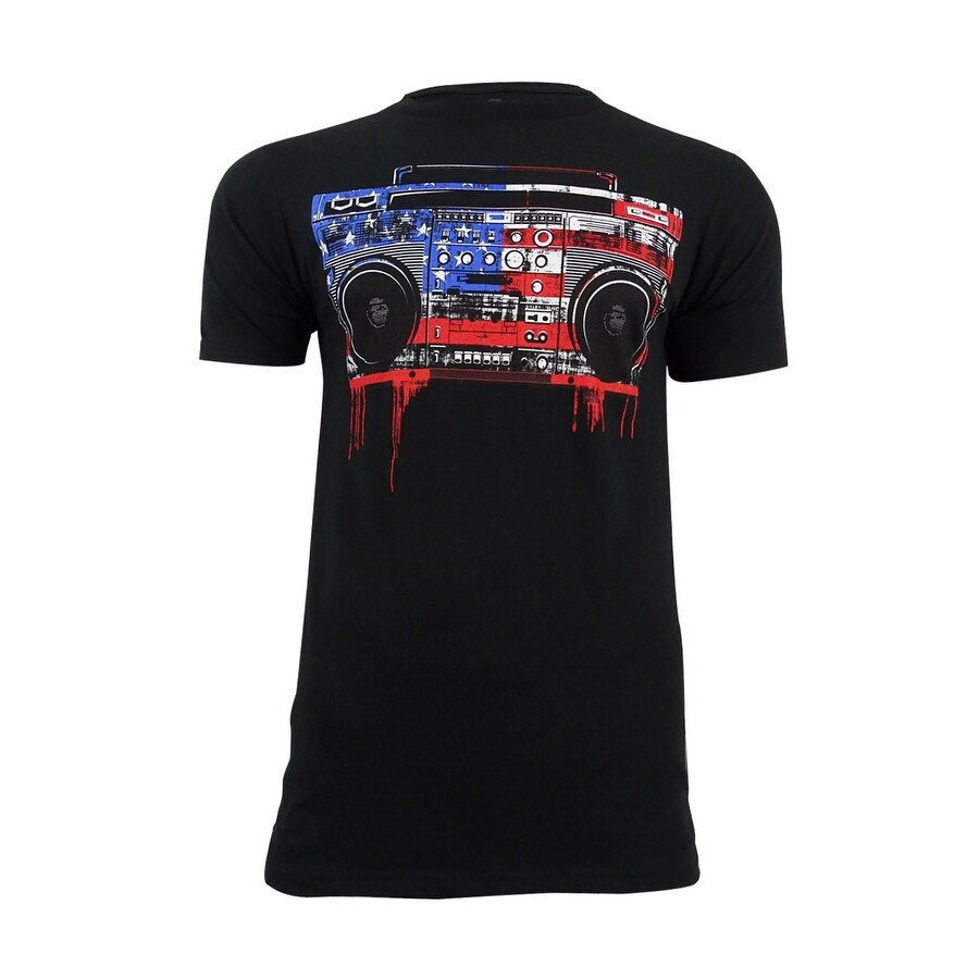 Shop American Rag Mens Graphic Print T Shirt M Black Black M