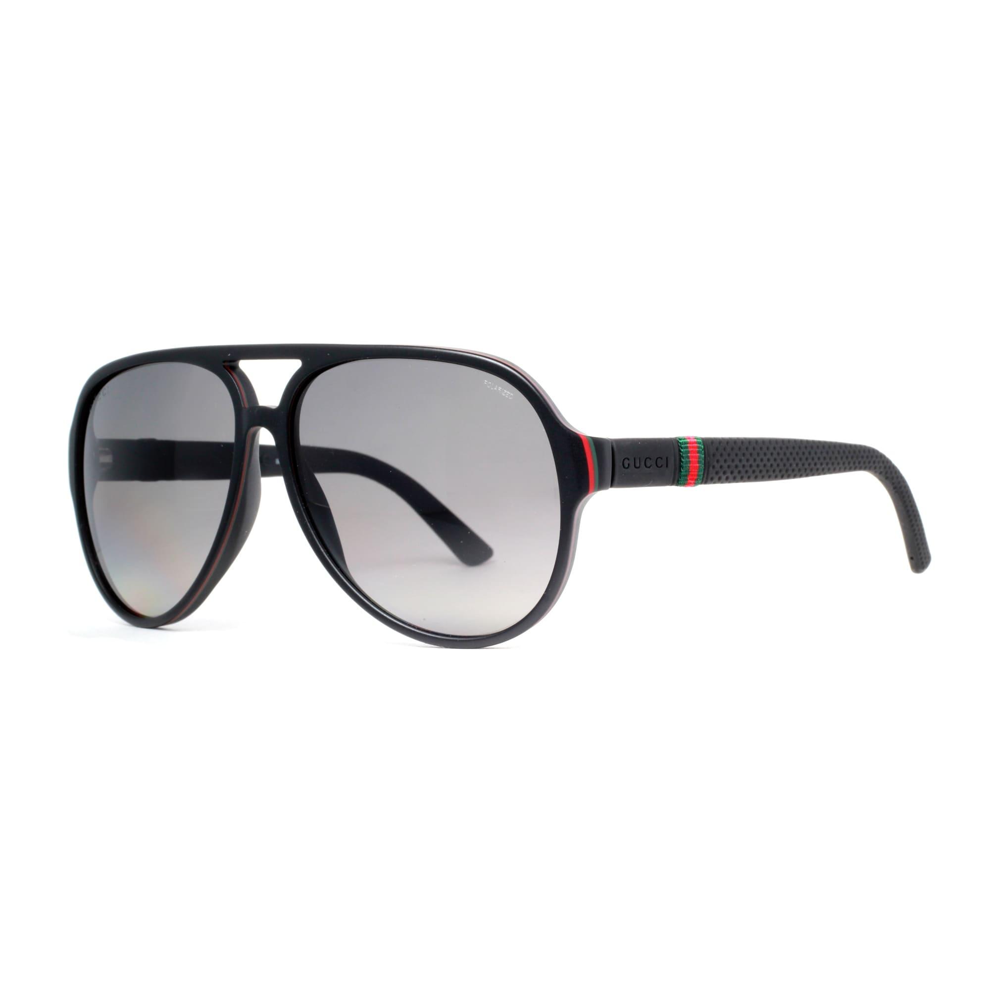 6b95458571 GUCCI Aviator GG 1065 S Unisex 4UP WJ Matte Black Gray Sunglasses -  59mm-13mm-140mm