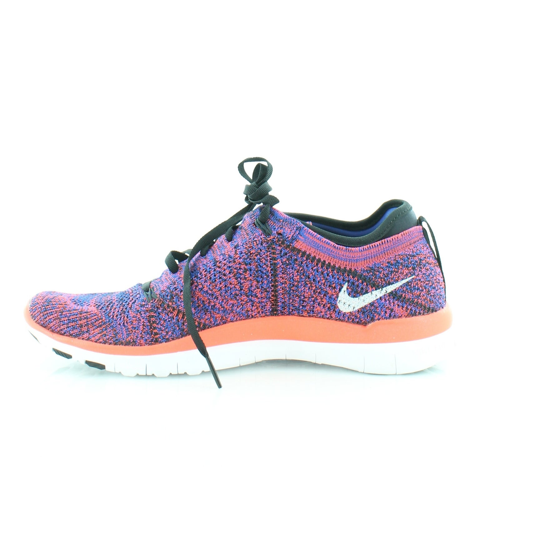 4629a6632f86f Shop Nike Free 4.0 Flyknit Women s Athletic Black White RCR Bl-Bright  Crimson - Free Shipping Today - Overstock - 21553711